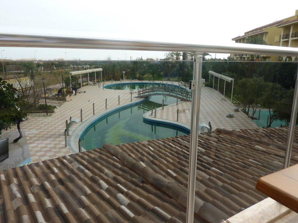 Blick von der Terrasse Februar 2010 Belek Beach Resort Hotel