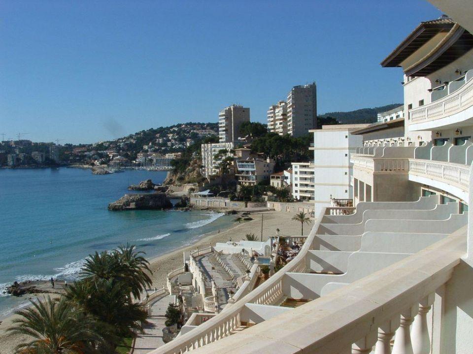 Blick von der Terrasse Hotel Nixe Palace
