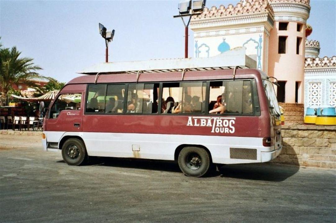 Hotel Fantasia 1001 Nacht - Shuttle-Bus zum Strand Alf Leila Wa Leila