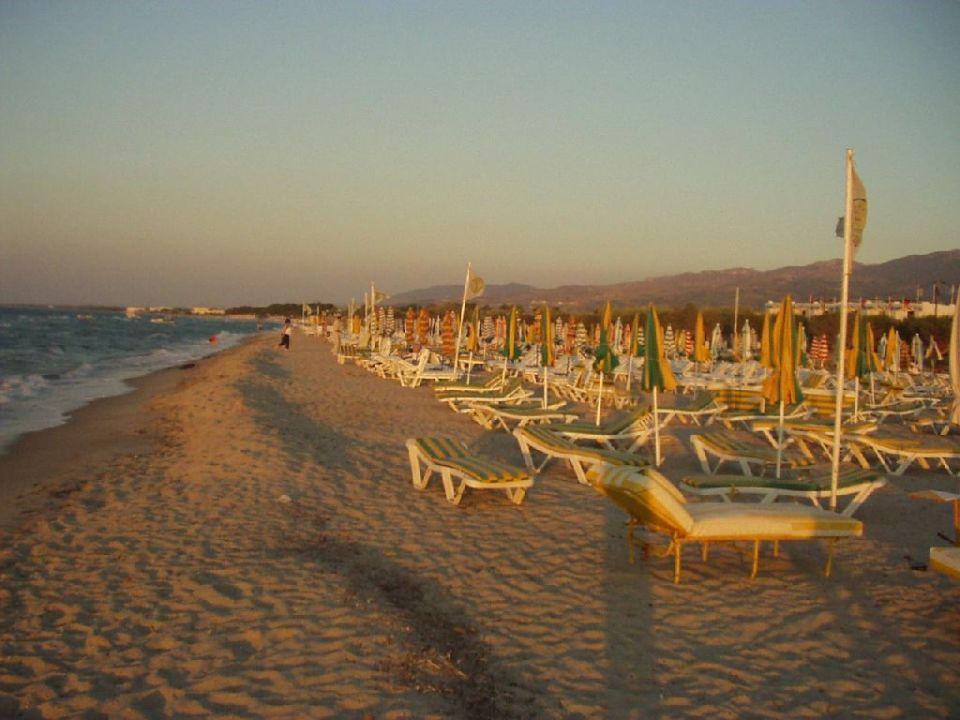 Strand am frühen Abend K ilios resort & Farming