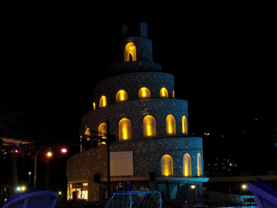 Rutsche bei Nacht Bodrum Imperial Hotel