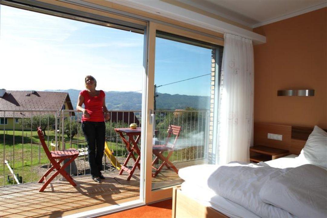 Große Panorama Fenstern mit Balkon Kollerhof am Eichberg