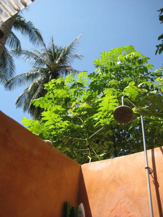 Brausen unter freiem Himmel - einmaliges Gefühl Hotel Thapwarin Resort