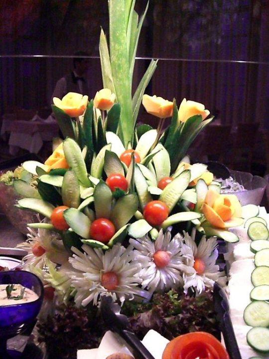Buffetdekoration aus Gemüse Hotel Side Star Elegance