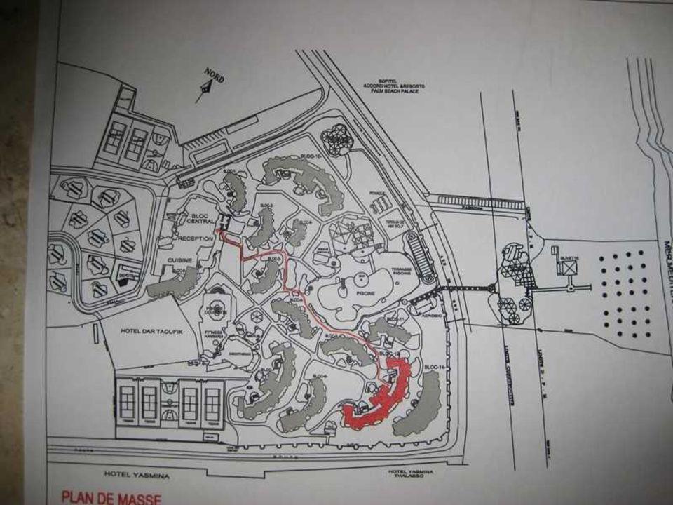 Der Plan Des Fiesta Beach Hotel Fiesta Beach Djerba