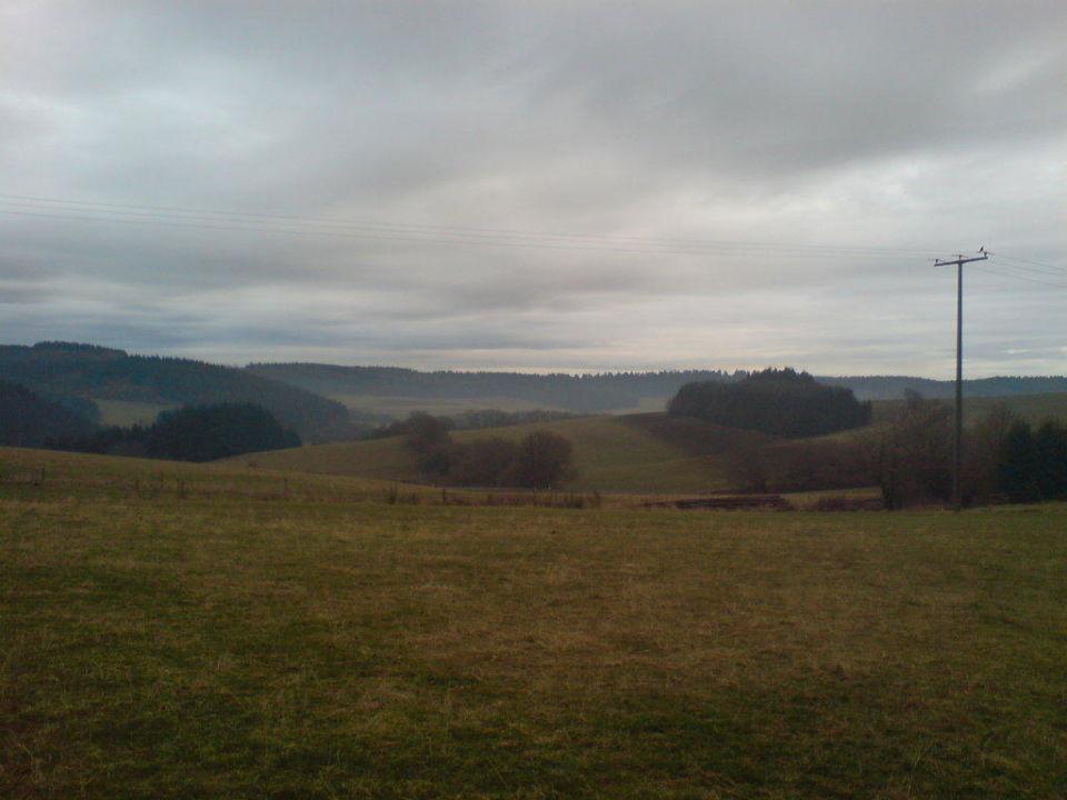 Ausblick vom Hinterhof aus Flair Landgasthaus Krebs