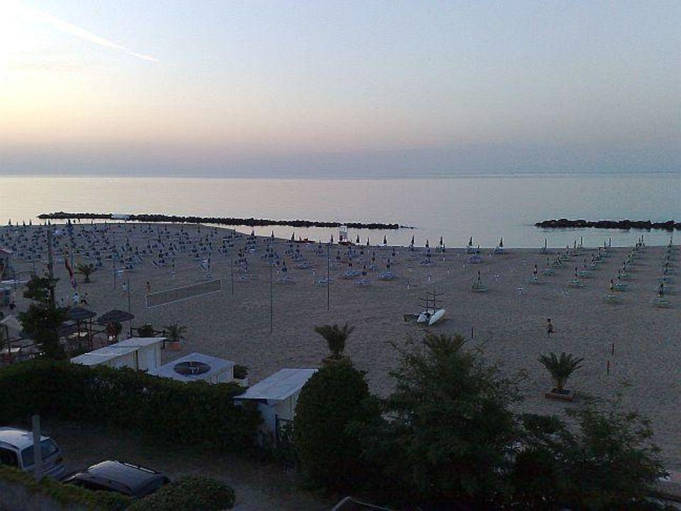 Blick vom Balkon Hotel Driade