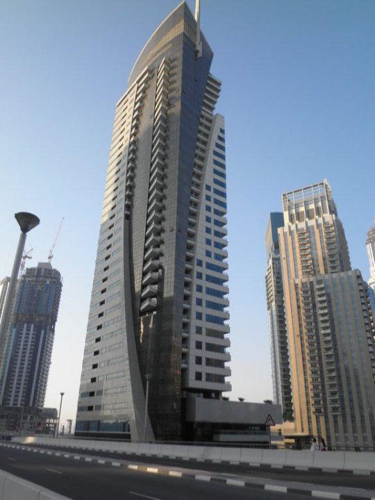 Das Hotel von aussen Hotel Dusit Residence Dubai Marina