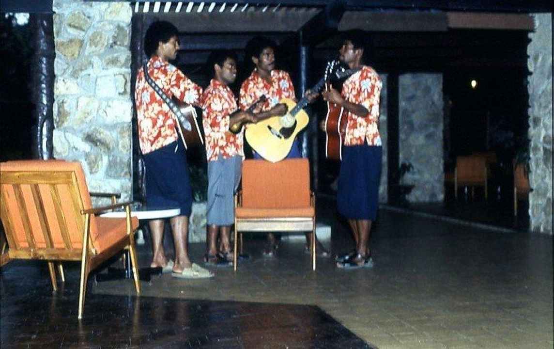 Die Musiker spielen auf Hotel Naviti Resort