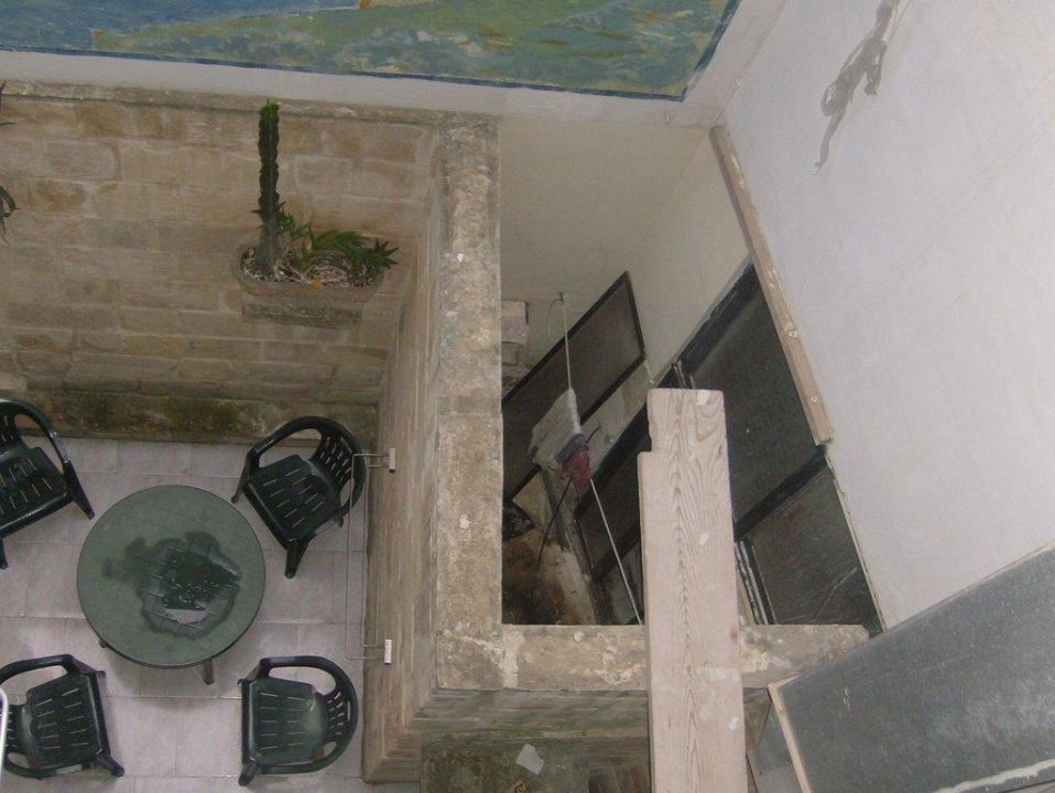 Blick vom Balkon auf die Küche Hotel White Dolphin