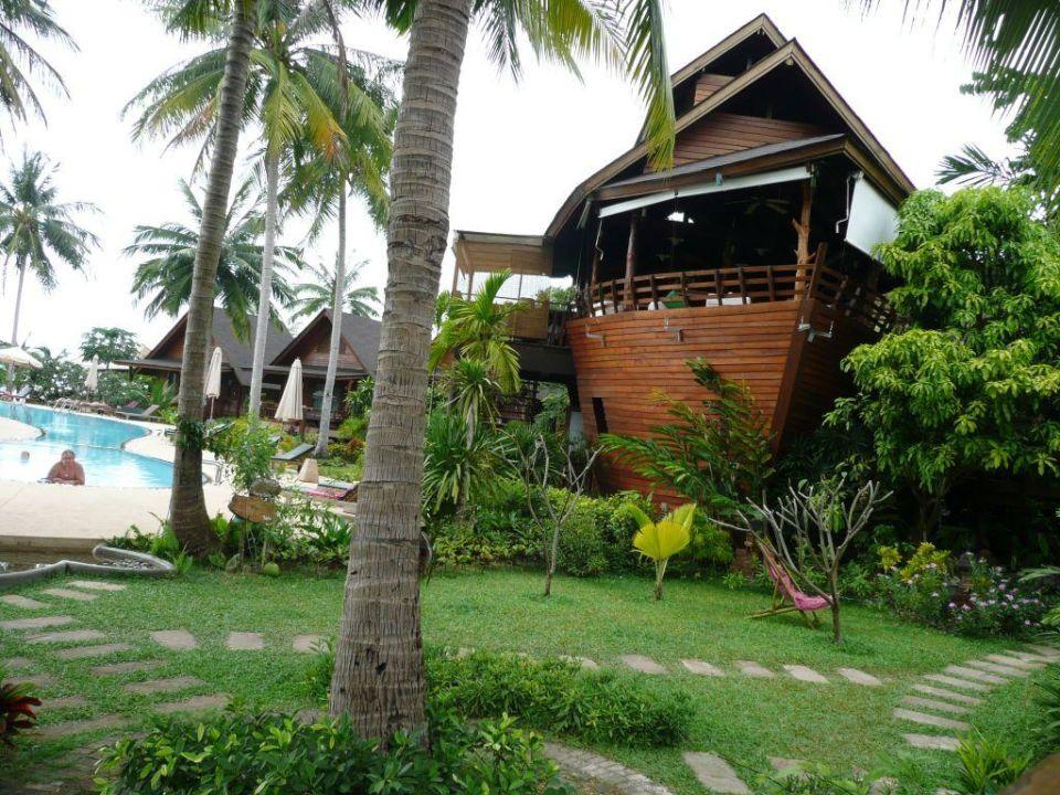 In dem Schiff findest das Frühstück statt Hotel Green Papaya Resort