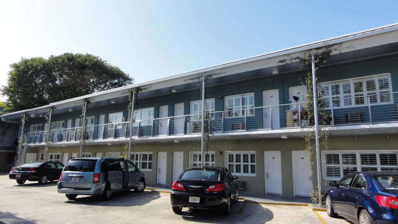Teil der Zimmer Motel Blue Marlin