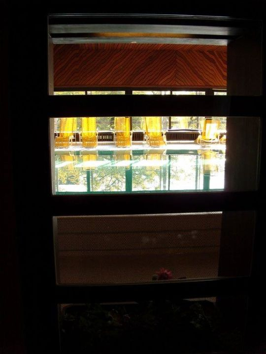 """Fenster zum Pool"" Haus Große Kettler Bad Laer"