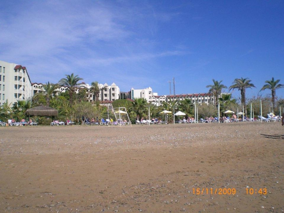 Blick vom Strand Arcanus Side Resort