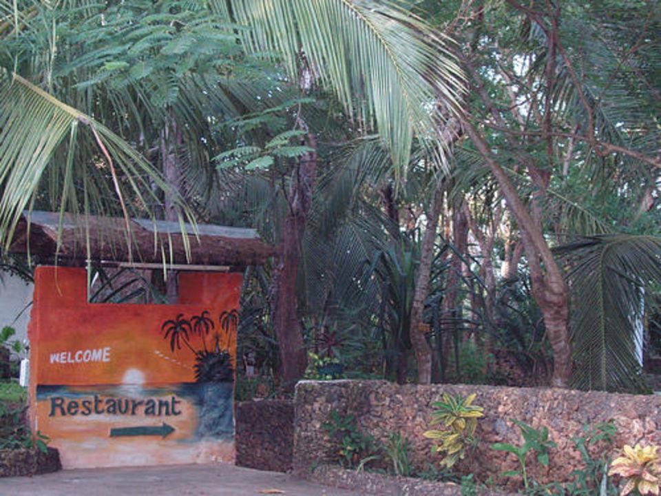Auf dem Hotelparkplatz Tropical Garden Apartments  (geschlossen)