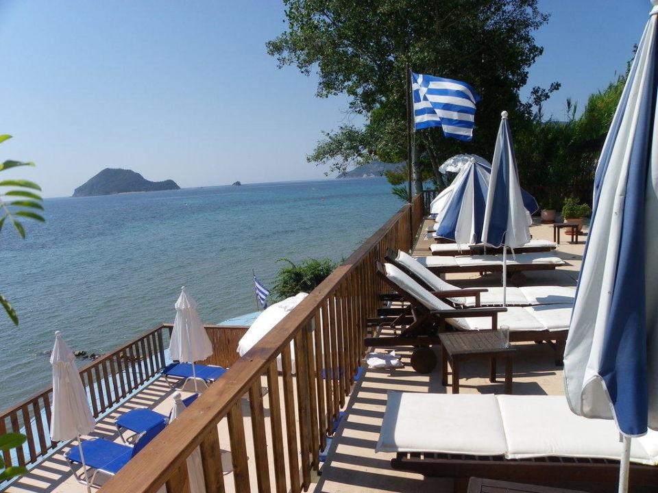 One of the new decks front of the sea Porto Koukla Beach Hotel