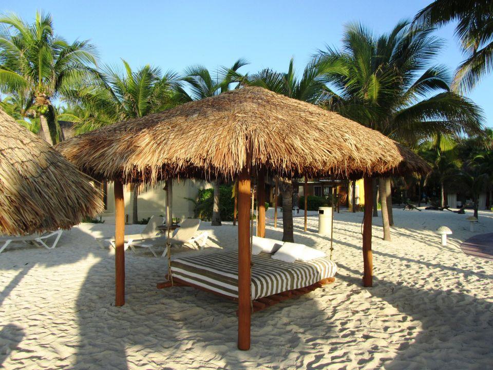 liege bett am strand mahekal beach resort playa del carmen playacar holidaycheck. Black Bedroom Furniture Sets. Home Design Ideas