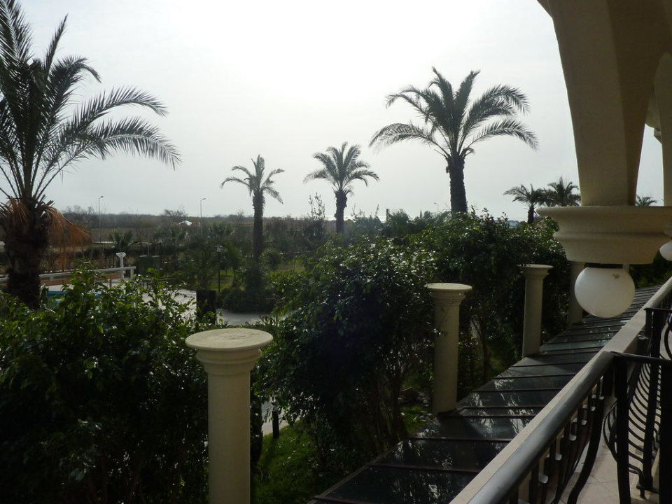 Blick vom Balkon Richtung Meer Februar 2010 Belek Beach Resort Hotel