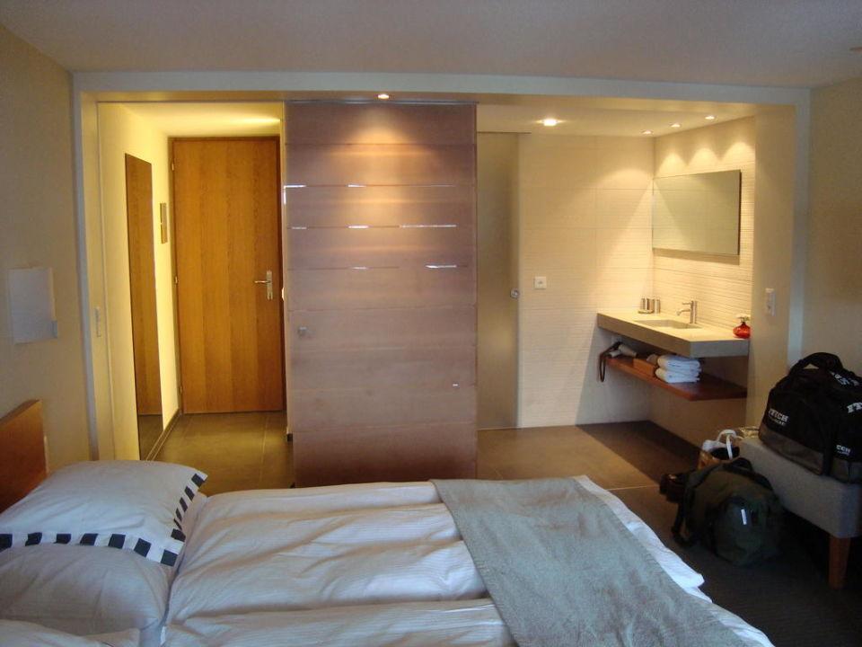 Vue de la chambre Hotel Allalin Saas-Fee