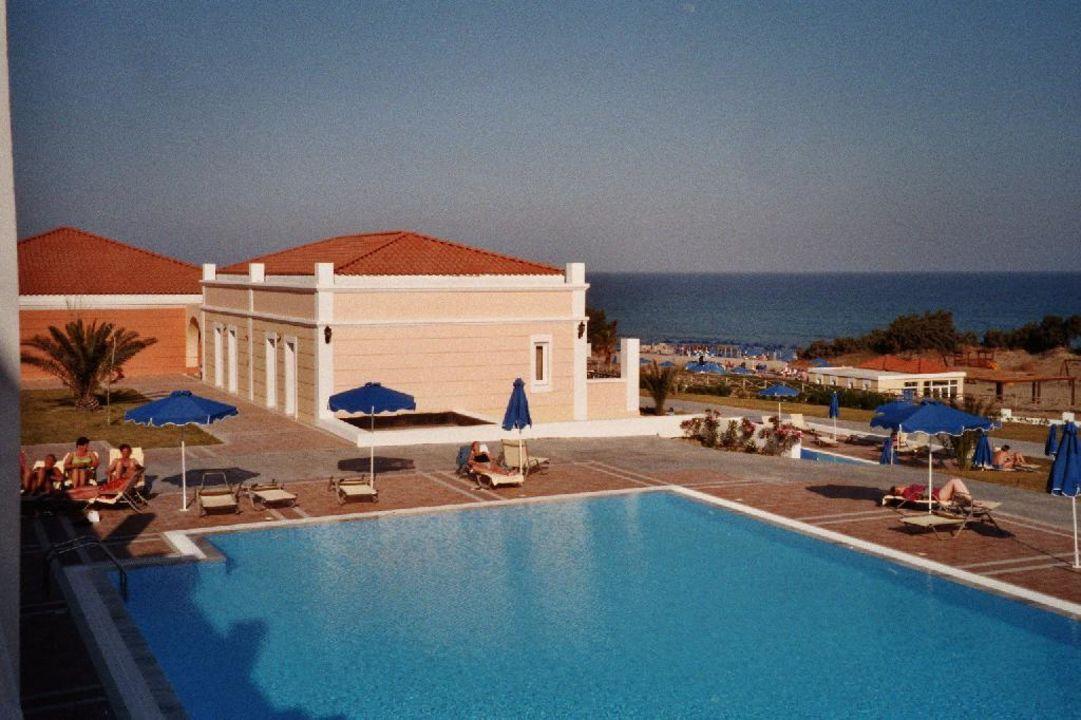 Blick von Zimmer 724 - ganz rechts unten - Richtung Strand u Atlantica Porto Bello Royal