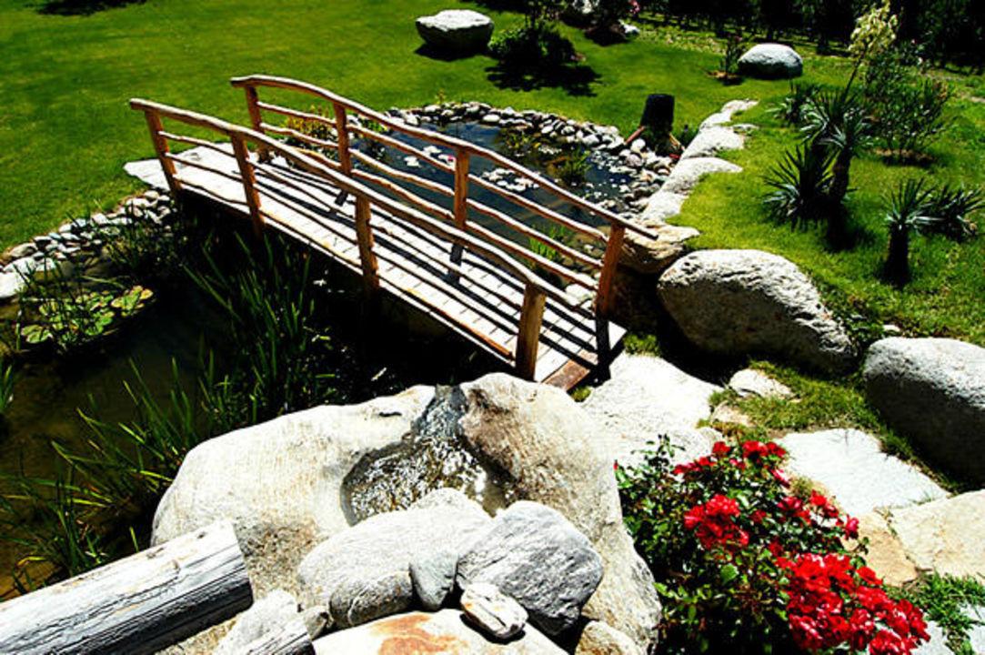 Garten des Hotels St. Kassian