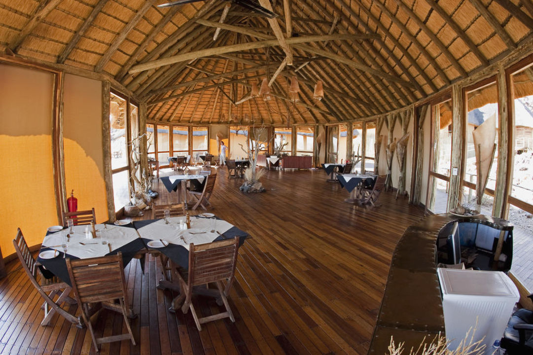 Hier wurden die Köstlichkeiten serviert Hotel Sossus Dune Lodge