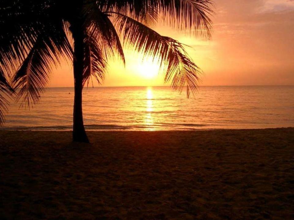 Sonnenuntergang auf Jamaica Hotel Legends Beach Resort