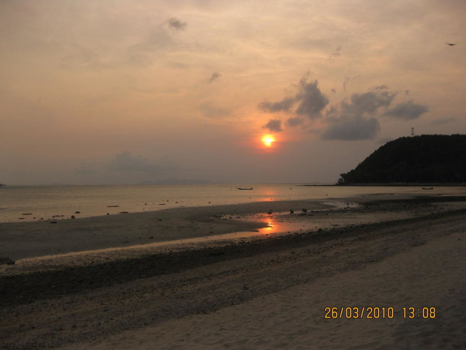 Sonnenuntergang am Hotelstrand Hotel Mai Samui Beach Resort & Spa