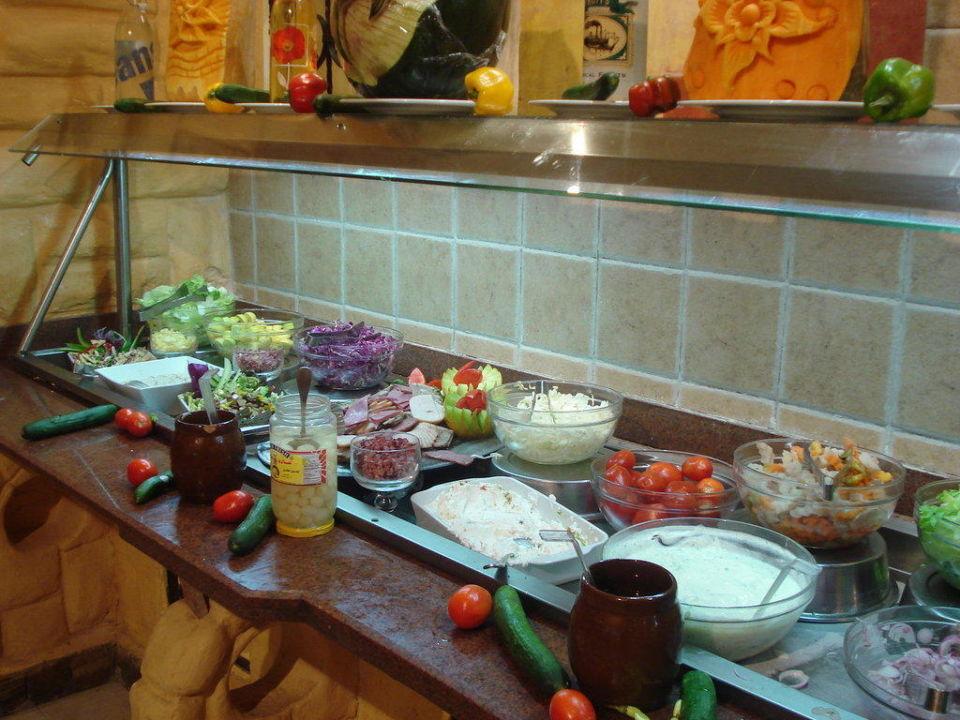 Salatbar im Hauptrestaurant Alf Leila Wa Leila