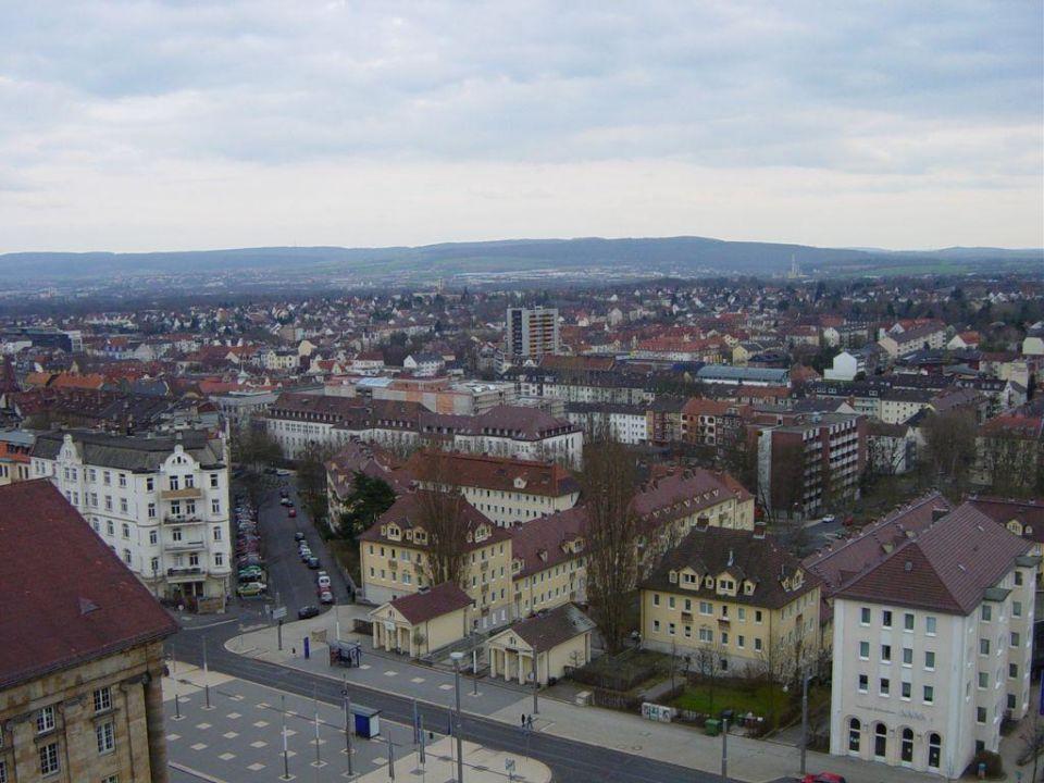 Aussicht vom Zimmer über Kassel H4 Hotel Kassel