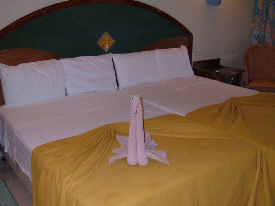 Bett im Hotelzimmer Hotel Riu Yucatan