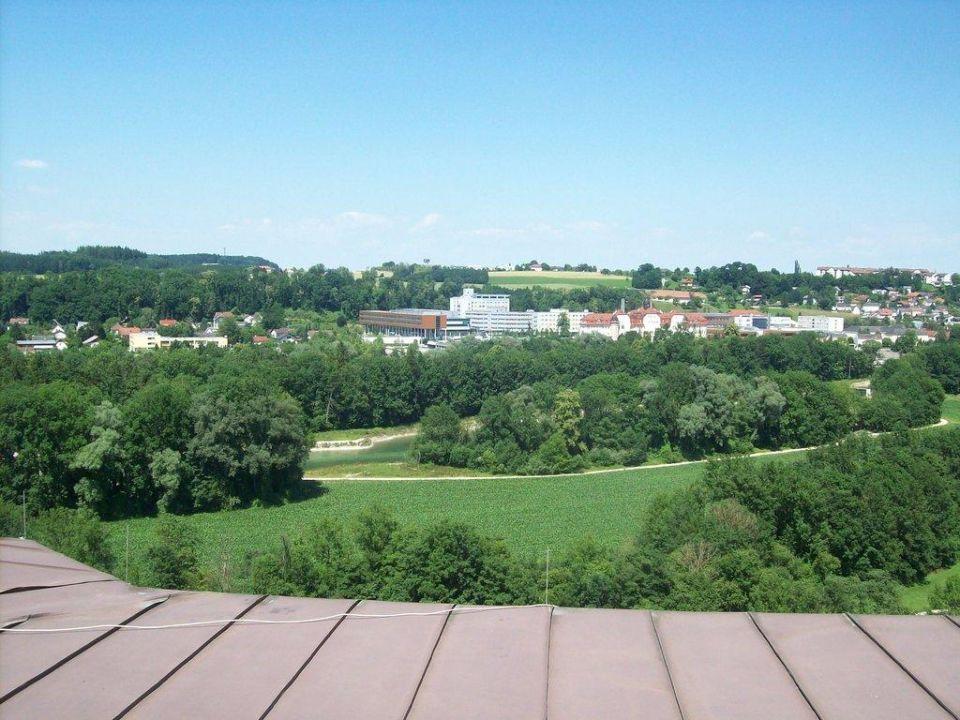 Ausblick vom Zimmer Hotel Christkindlwirt