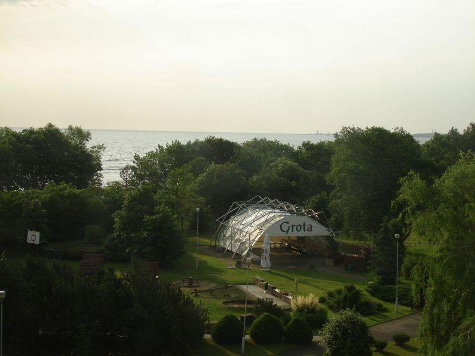 Widok na morze Hotel Novotel Marina