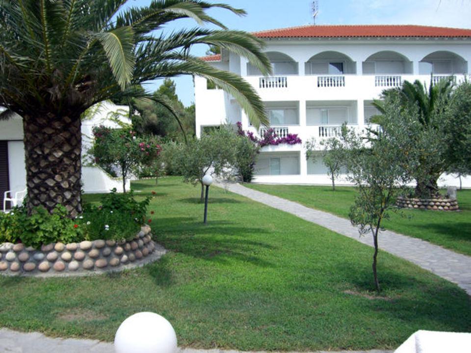 Blick auf einen Zimmertrakt Hotel Flegra Palace