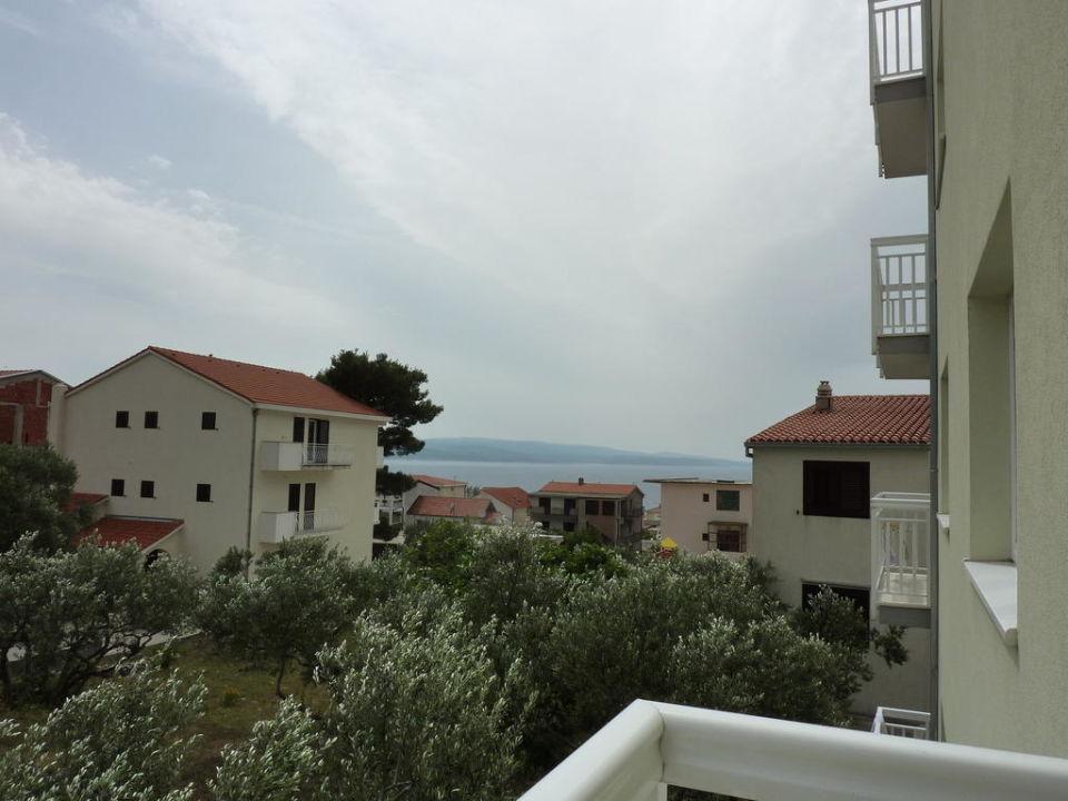 Blick zur Meerseite Apartments Ivana