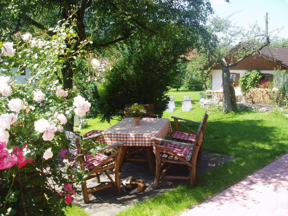 Sitzecke im Garten\