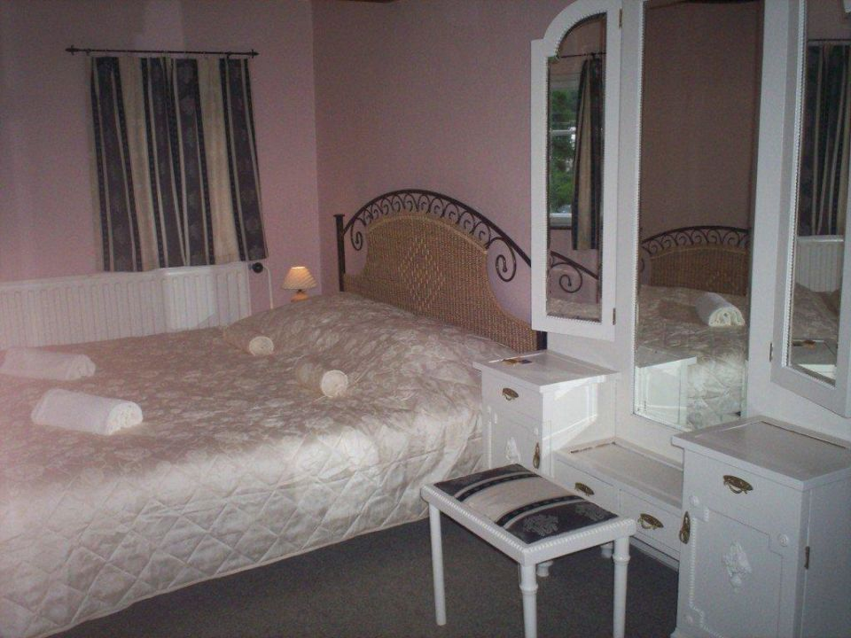 One of the bedrooms Pension Rokytka