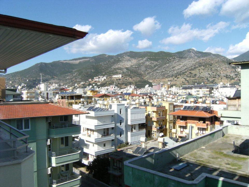 Blick vom Balkon Alaiye Kleopatra Hotel