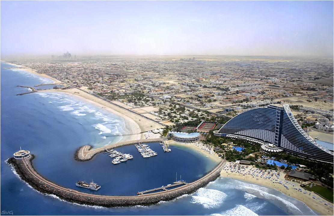 Blick vom Burj Al Arab Jumeirah Beach Hotel