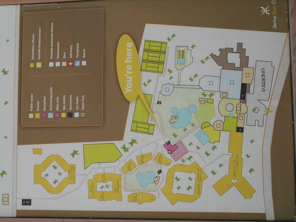 Plan Von Der Hotelanlage Jerba Sun Club