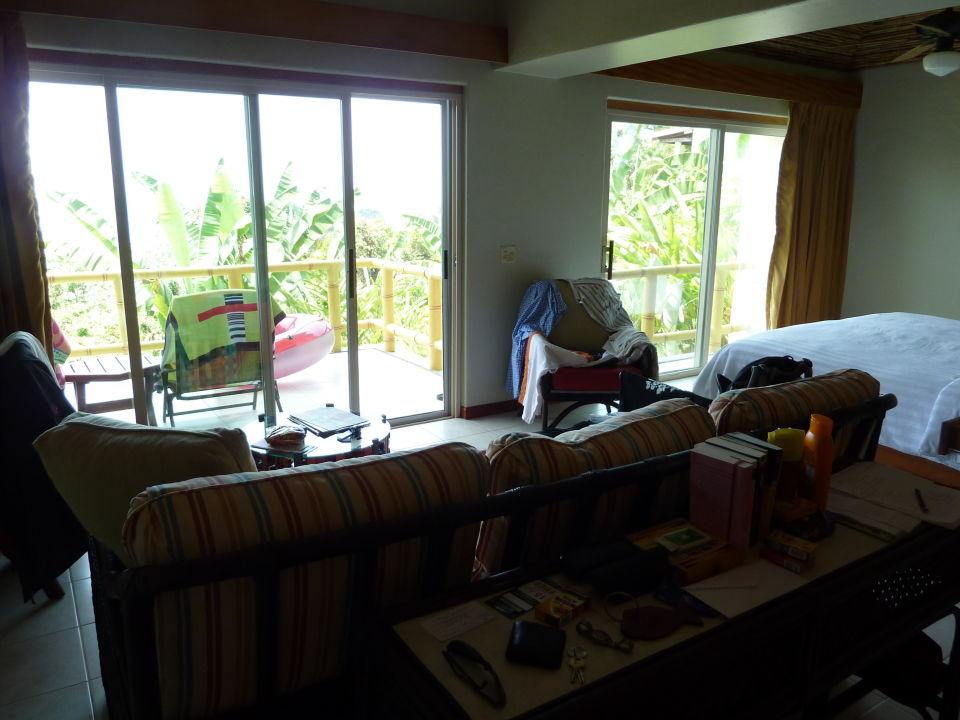 Fensterfront in der Deluxe Suite Si Como No Resort & Wildlife Refuge