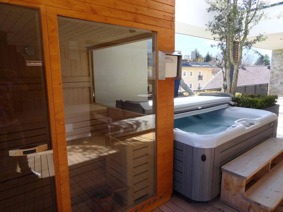 Am Balkon Sauna Whirlpool Feldhof Dolcevita Resort Naturno