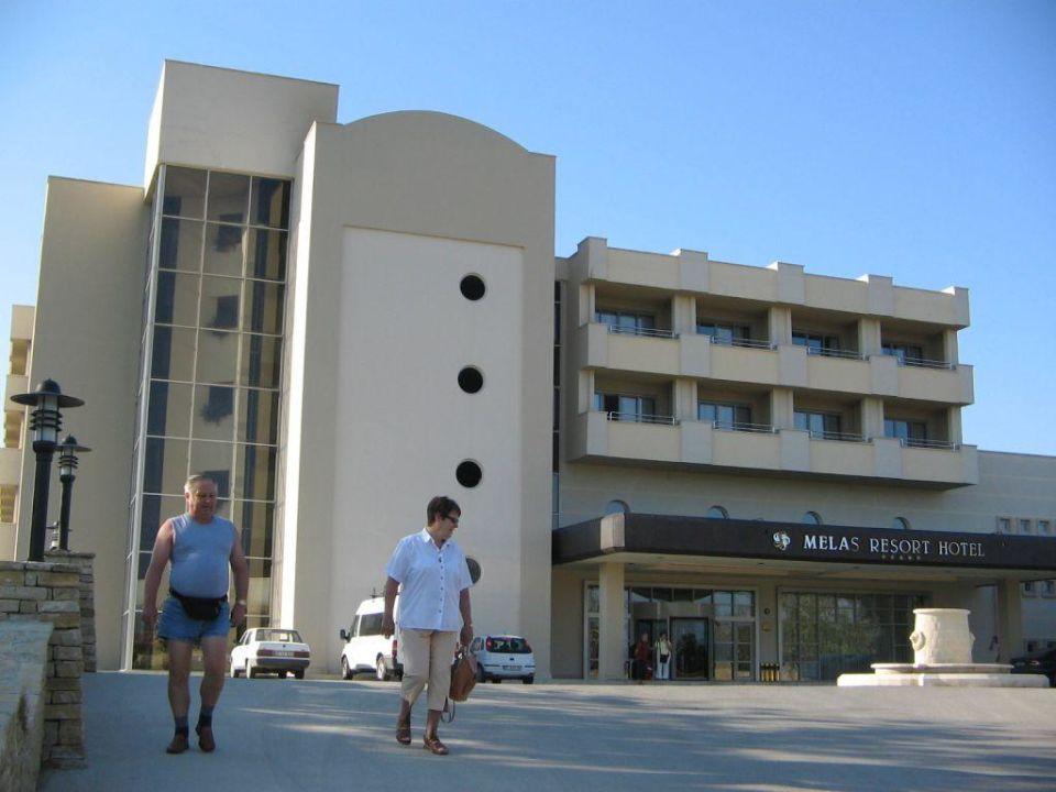 Hotel Melas Resort Eingang Hotel Melas Resort