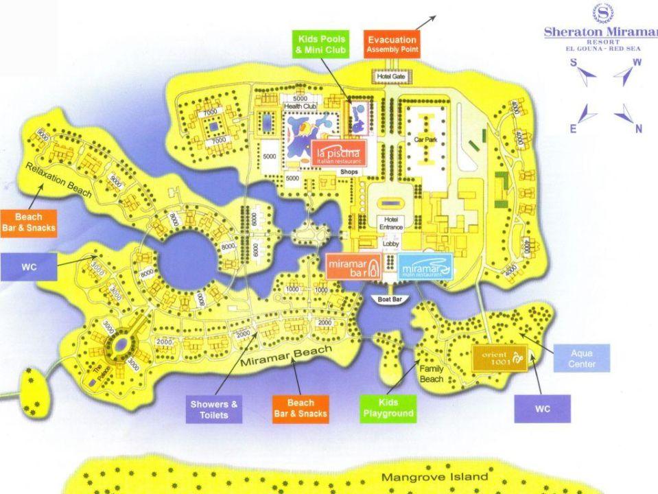 Lageplan Sheraton Miramar Resort El Gouna El Gouna