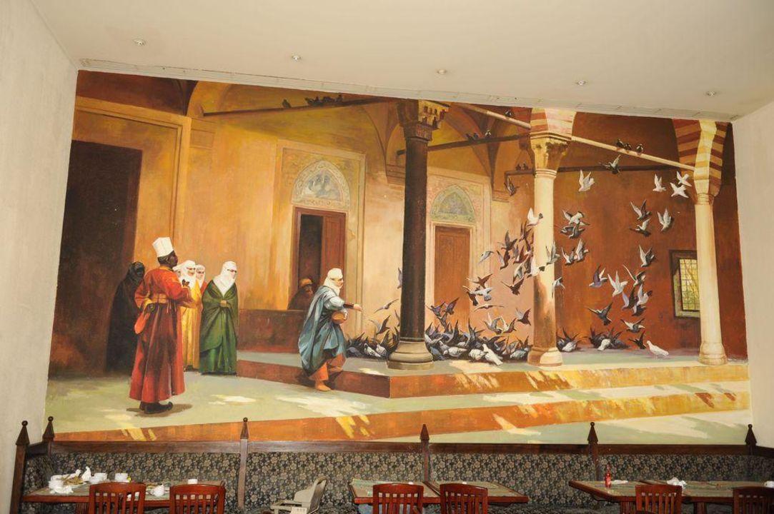 Restaurant Aladin mit Wandmalerei Tia Heights Makadi Bay