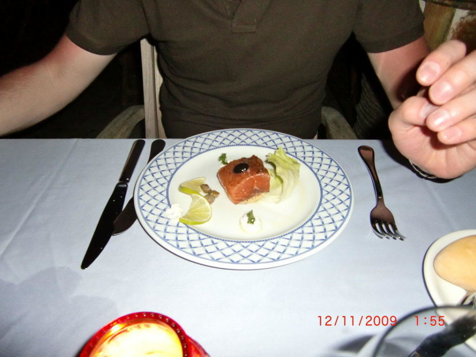Lachs im Seafood Restaurant Majestic Elegance Punta Cana Resort