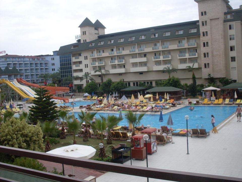 Das ist der Pool vom Balkon aus Xeno Eftalia Resort Hotel