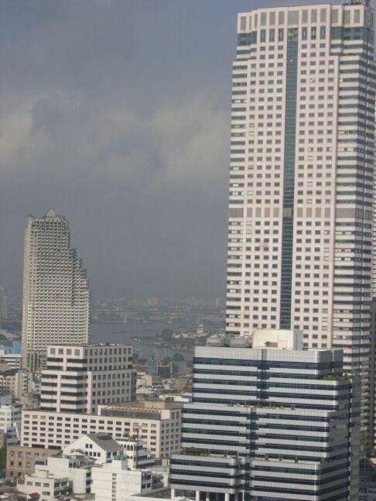 Sofitel Silom - Clubzimmer-Ausblick auf den Chao Phraya Rive Hotel Pullman Bangkok Hotel G