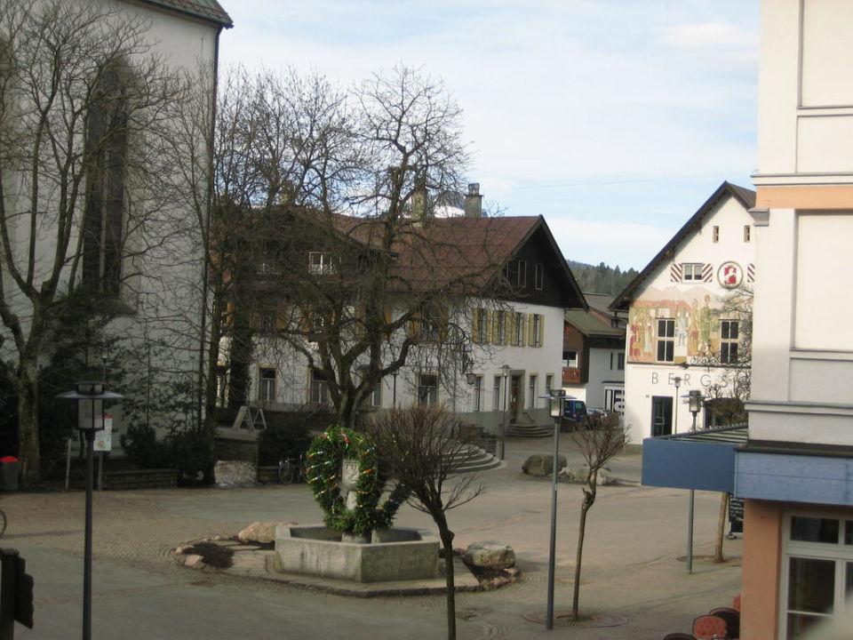 Ausblick von der Terrasse Hotel Mohren