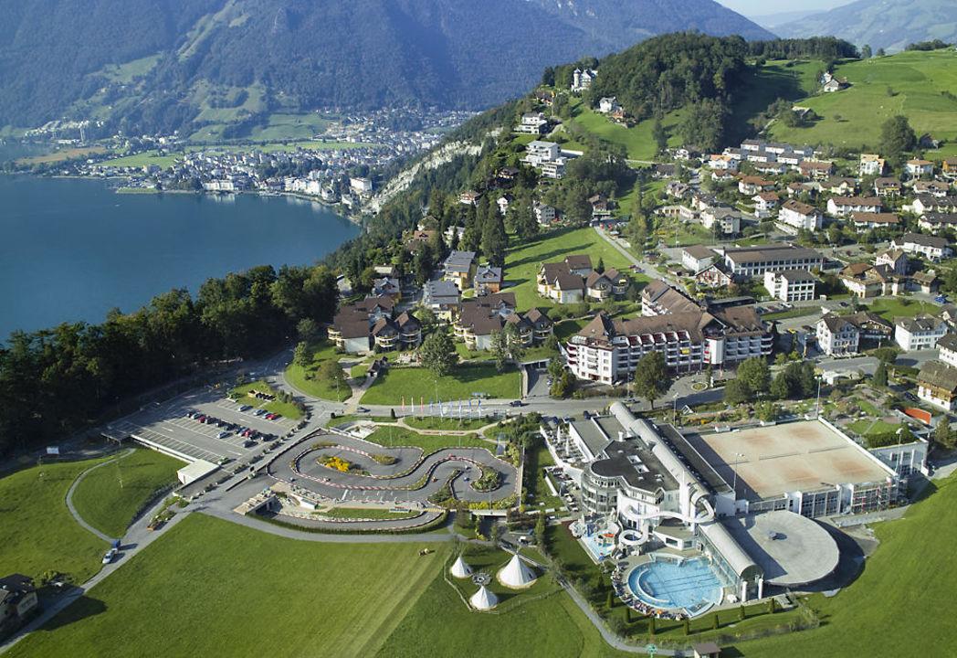 Vogelperspektive hotel swiss holiday park morschach for M park geneve